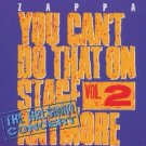 frank zappa - you can't do that on stage anymore vol.2 helsinki concert CD 2discs 1988 rykodisc