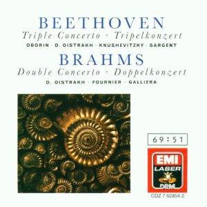 beethoven triple concerto + brahms double concerto - oistrakh CD 1990 EMI used mint
