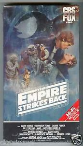 star wars the empire strike back VHS 1980 lucas film 1984 cbs fox new