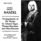 handel - arrangements of his works by elgar beecham and bennett - RPO & menuhin CD MHS used