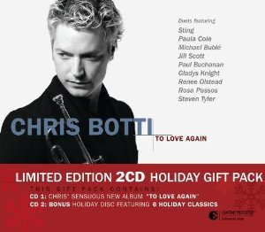 chris botti - to love again the duets holiday gift pack CD 2-discs 2005 sony used