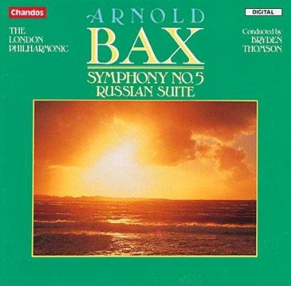 arnold bax - symphony no.5 - LPO + thomson CD 1989 chandos used mint