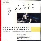 bela bartok violin concertos nos. 1 & 2 - nell gotkovsky / charles gerhart CD 1980 pyramid