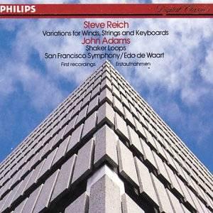 reich variations adams shaker loops - SFS + waart CD 1984 philips used mint