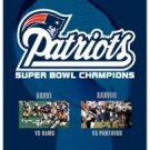patriots super bowl champions xxxvi + xxxviii DVD 2-pack 2004 warner used mint