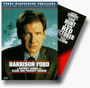 jack ryan thriller set - hunt for red october / patriot games / clear and present danger DVD