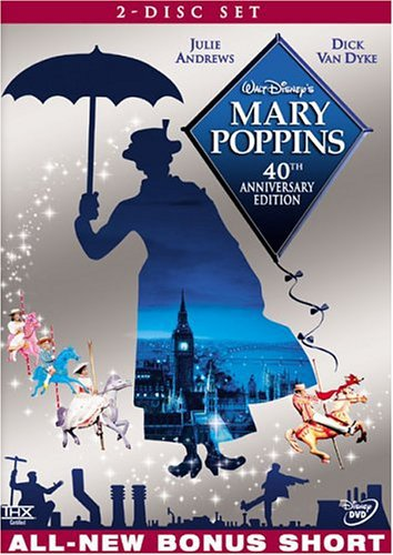 mary poppins - 40th anniversary edition DVD 2-disc set 2004 disney used mint