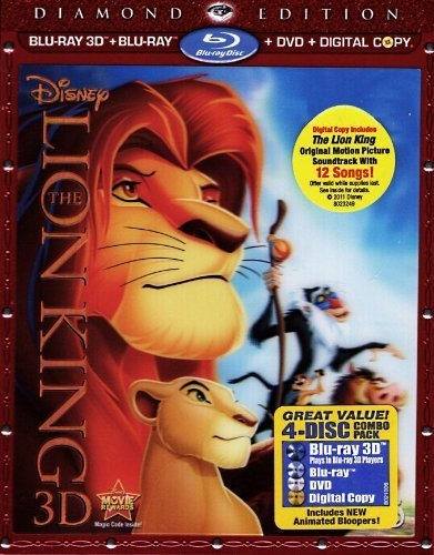 lion king - diamond edition with bluray 3D bluray dvd digital copy 2011 disney used