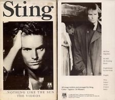 sting - nothing like the sun VHS 1988 A&M used mint
