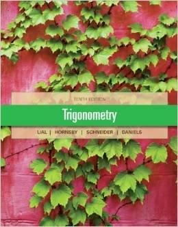 Trigonometry 10th Edition Hardcover 2012 Pearson Used Near Mint