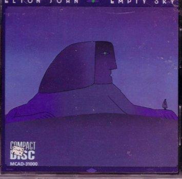 elton john - empty sky CD 1975 MCA 9 tracks used mint