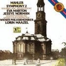 mahler symphony 2 - eva marton & jessye norman, wiener philharmoniker & maazel 2CDs 1984 CBS used