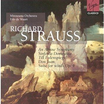 richard strauss - alpine symphony etc - minnesota orchestra w/ waart 2CDs 1998 virgin used mint