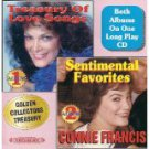 connie francis - treasury of love songs + sentimental favorites CD 1984 beautiful music 24 tracks