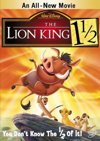 lion king 1 1/2 DVD 2004 disney used mint
