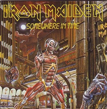 iron maiden - somewhere in time CD 1986 original sound EMI 8 tracks used mint