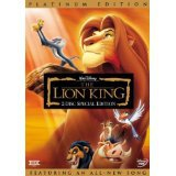 lion king DVD Disney 2-disc Platinum Edition 1994 used mint