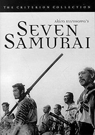 seven samurai - akira kurosawa, director DVD 1954 toho 1998 criterion B&W 207 mins used