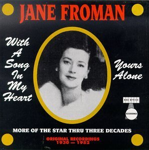 jane froman - with a song in my heart / yours alone CD 1997 box office 24 tracks used mint