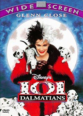101 dalmatians - glenn close DVD 2000 disney 103 minutes used mint