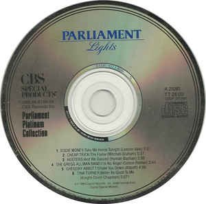 parliament lights - parliament platinum collection CD 1984 capitol 6 tracks used mint
