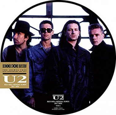 """u2 - red hill mining town 2017 mix 12"""" picture disc RSD 2017 universal 45 RPM new sealed"""