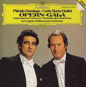 domingo + giulini - opern-gala CD 1981 deutsche grammophon 9 tracks used mint