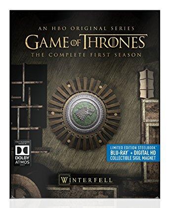 game of thrones - winterfell - season 1 bluray 5-discs steelbook used mint