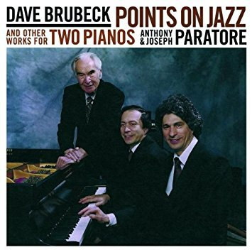 dave brubeck - points on jazz and other works for two pianos CD koch 2000 14 tracks used mint