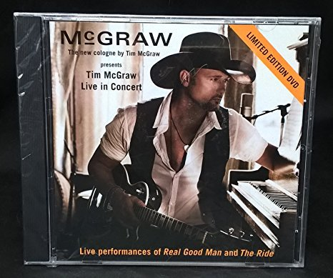 tim mcgraw - live in concert Limited Edition DVD curb 2 tracks used mint