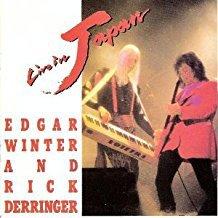 edgar winter and rick derringer - live in japan CD autographed 1990 cypress goldcastle 13 tracks