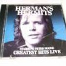 herman's hermits starring peter noone - greatest hits live CD autographed 2002 no one 24 tracks used