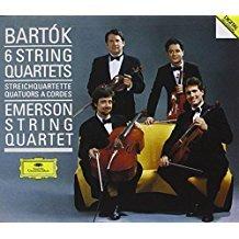bartok - 6 string quartets - emerson string quartet CD 2-discs 1988 polydor DG used mint