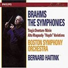 brahms the symphonies - boston symphony orchestra + haitink 4CD box 1997 philips used mint