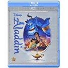 aladdin - diamond edition bluray + DVD digital HD 2015 disney G used mint