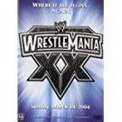 WWE wrestlemania XX sunday march 14, 2004 DVD 3-discs 2005 used