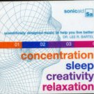 sonicaid - creativity relaxation concentration sleep CD 4-discs 2004 somerset used
