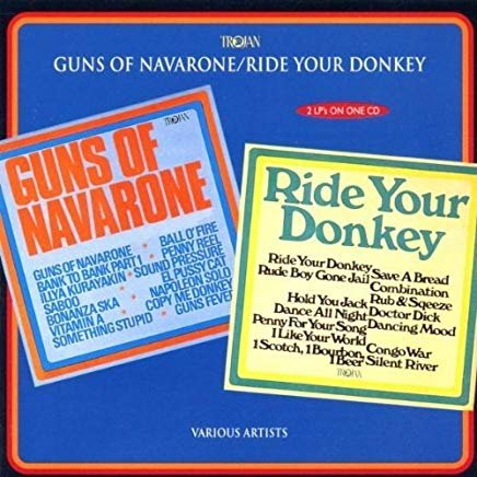 guns of navarone / ride your donkey - various artists CD 1997 trojan 27 tracks used mint