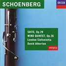 schoenberg - suite op.29 / wind quintet op.26 - london sinfonietta w/ atherton CD 1992 used mint