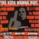 kids wanna riot - various artists CD 1999 burning heart 15 tracks used mint