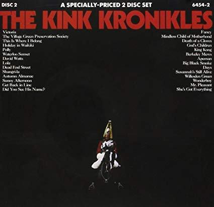 kinks - kink kronikles CD 2-discs 1972 reprise WEA 28 tracks used mint