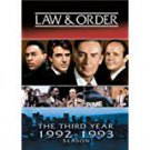 law & order the third year 1992 - 1993 DVD 3-discs 2005 universal used