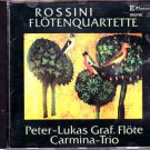 rossini - flotenquartette - peter-lukas graf, flote + carmina-trio CD 1987 claves sanyo used mint