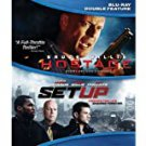 hostage / set up - bluray double feature 2-discs 2013 lions gate used like new