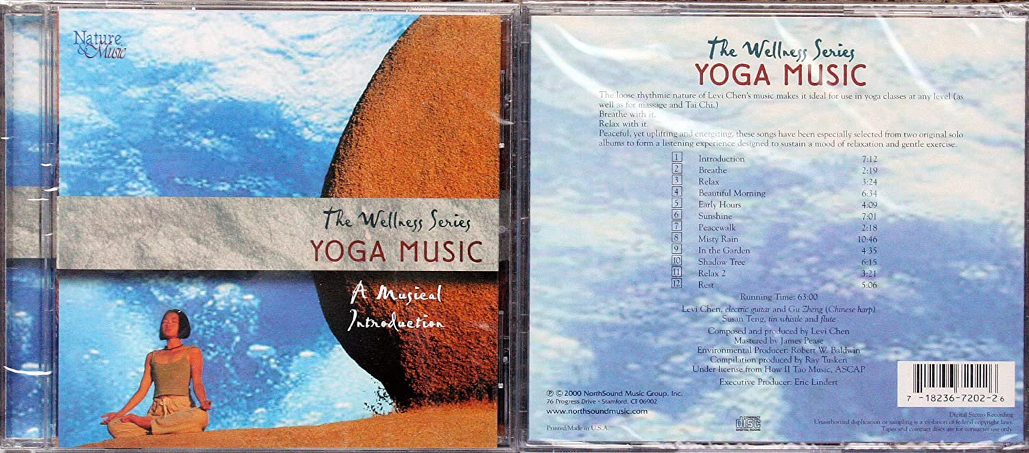 wellness series: yoga music - a musical introduction CD 2000 northsound 2 tracks used like new