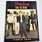 huey lewis and the news - world tour program book Paperback 1986 used very good