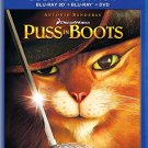puss in boots 3D BluRay Bluray DVD 3-discs 2018 universal used like new