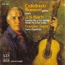 celedonio romero plays J.S. Bach + Gaspar Sanz CD 1986 delos used like new