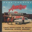 alvin crow - pure country honkytonk CD 1988 broken spoke 22 tracks used like new
