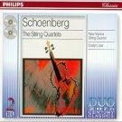 schoenberg - string quartets - new vienna string quartet + evelyn lear 2CDs 1999 philips like new